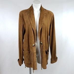 RL COLLECTION Suede Leather Western Fringe Jacket